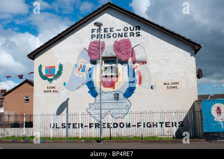 East Belfast Mural UFF- Lord Street. - Stock Photo