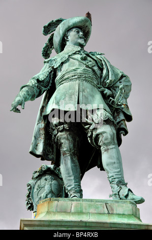 The Gustav Adolf II statue, Gustav Adolf's Square, Gothenburg, Västergötland & Bohuslän Province, Kingdom of Sweden - Stock Photo