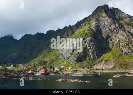 Village of Å Lofoten Islands Norway - Stock Photo
