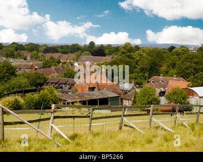 View over  Wendover Town, Bucks,and Village, Bucks,  UK - Stock Photo