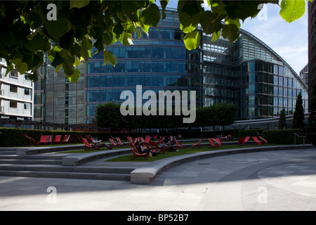 Situated on the upper level of Cardinal Place is this recreation area for the general public and office workers. - Stock Photo