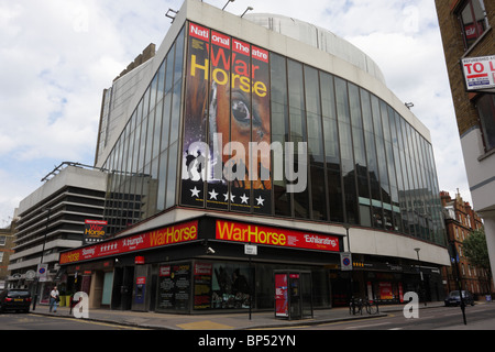 Currently showing the production of War Horse the New London Theatre, situated at the junction of Parker Street - Stock Photo