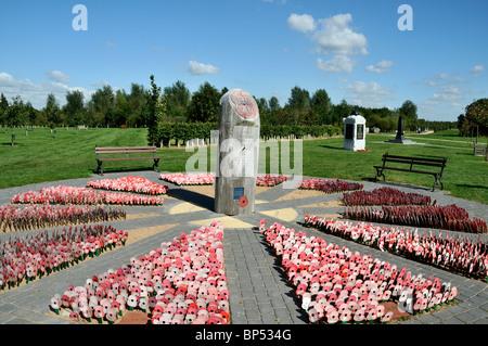 The British Legion, My Remembrance Day Poppy Garden, at the National Memorial Arboretum, Alrewas, Staffordshire, - Stock Photo