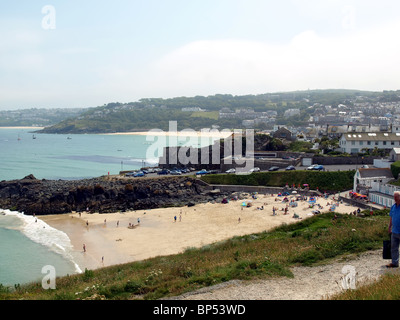 Two of the many beaches at St.Ives,Cornwall,UK. - Stock Photo