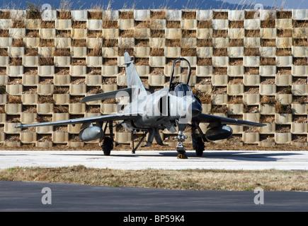French Navy Dassault Super Etendard at it's homebase Hyeres, France - Stock Photo