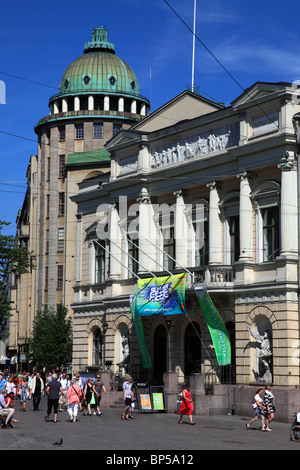 Finland, Helsinki, street scene, architecture, people, - Stock Photo