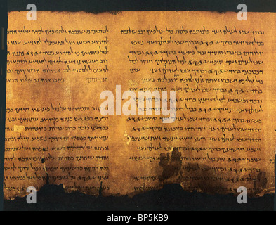 'PSALMS SCROLL' FROM QUMRAN CAVE 11 THE SCROLL CONTAINS A LITURGICAL COLLECTION FROM THE OLD TESTAMENT BOOK OF PSALMS. - Stock Photo