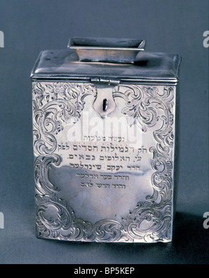 5150. ALMS BOX USED IN SYNAGOGUE FOR COLLECTING FOR THE POOR - Stock Photo