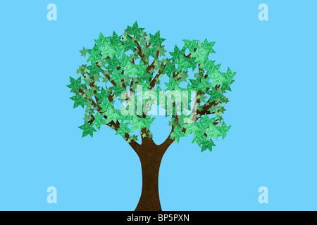 Tree in full leaf - Stock Photo