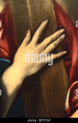 Detail: Saint Jerome as Scholar, ca. 1610, by El Greco - Stock Photo