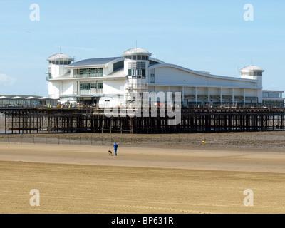 The new grand pier,Weston-Super-Mare,Somerset,UK. - Stock Photo