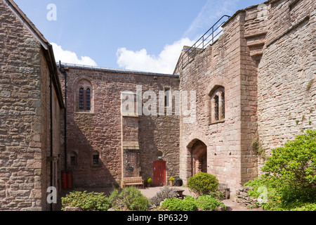 St Briavels Castle, now a YHA youth hostel, in the Forest of Dean, Gloucestershire - Stock Photo