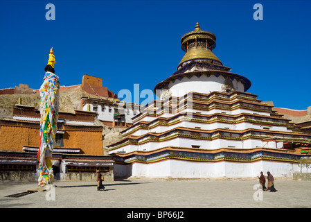 Pango Chorten/Gyantse Kumbum at Pelkor Chode Monastery in Gyantse, Tibet - Stock Photo