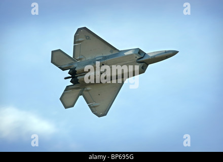 The US Air Force F-22 Raptor at The Royal International Air Tattoo at RAF Fairford July 2010 - Stock Photo