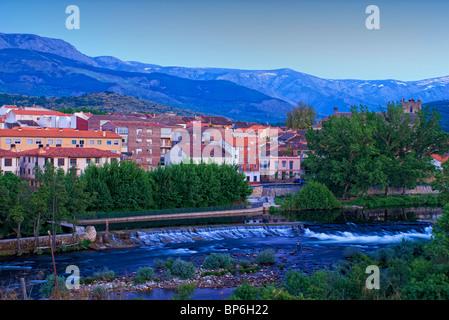 Tormes River. El Barco de Avila. Avila province. Castilla y Leon. Spain. - Stock Photo