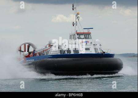 British Hovercraft Corporation API-88 Freedom 90 hovercraft in the Solent. UK - Stock Photo