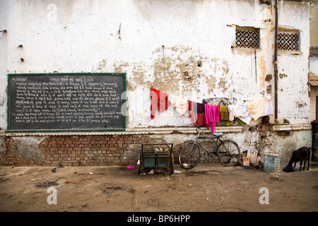 A scene from a back street in Ahmedabad, Gujarat, India. - Stock Photo