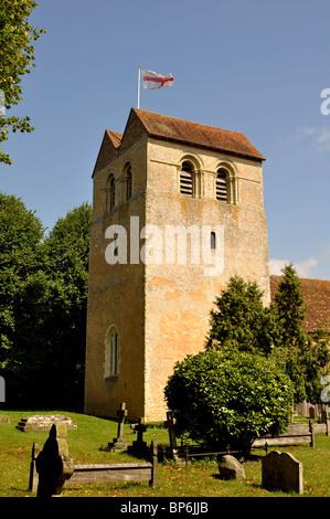 St. Bartholomew`s Church, Fingest, Buckinghamshire, England, UK - Stock Photo
