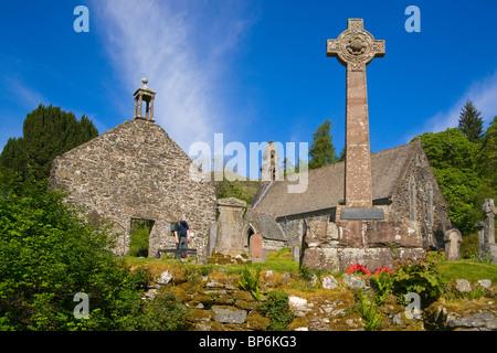 Rob Roy's grave, Balquhidder Churchyard, Stirlingshire, Scotland. - Stock Photo