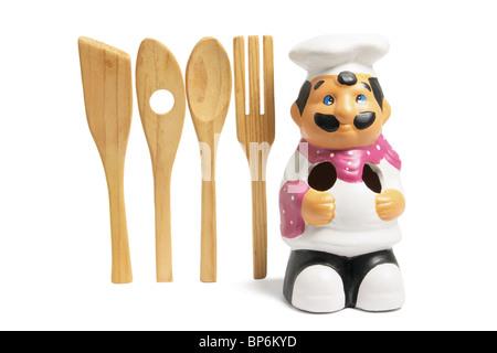Chef Kitchen Utensil Holder - Stock Photo