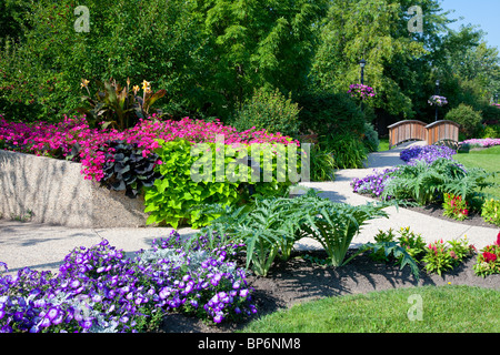 City Flower Garden In Winkler Manitoba Canada Stock Photo Royalty