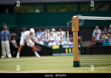 Detail of net on the Centre Court at Wimbledon - Stock Photo