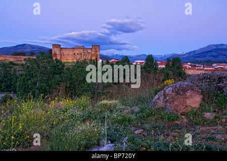 Valdecorneja Castle (14th Century). El Barco de Avila. Avila province. Castilla y Leon. Spain. - Stock Photo