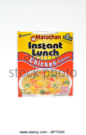 Cup Of Maruchan Instant Lunch Chicken Flavor Ramen Noodles