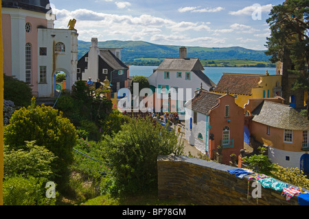 Portmeirion, village, Gwynedd, North Wales, UK - Stock Photo