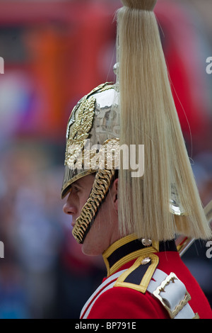 Household Cavalry at Horse Guards Parade Westminster London - Stock Photo