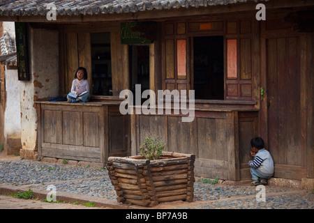 in Shaxi Village, Yunnan Province, China - Stock Photo