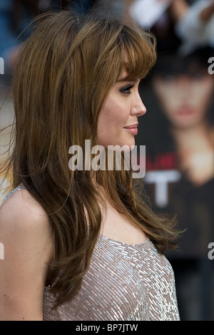 Angelina Jolie attends The Gala premiere of 'SALT' directed by Phillip Noyce at Empire Leicester Square on August - Stock Photo