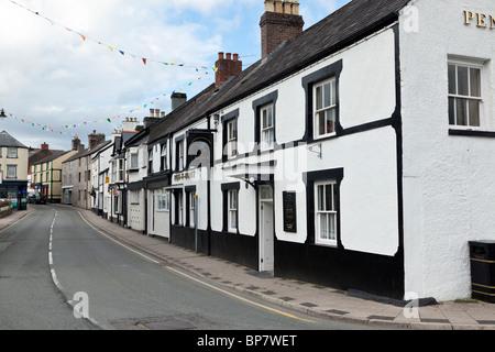 Llanrwst, Conwy Valley, North Wales. High Street. - Stock Photo