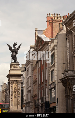 A Dragon or Gryphon statue marking the entrance to the City of London. - Stock Photo