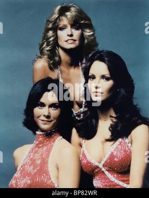 FARRAH FAWCETT, KATE JACKSON, JACLYN SMITH, CHARLIE'S ANGELS, 1976 - Stock Photo