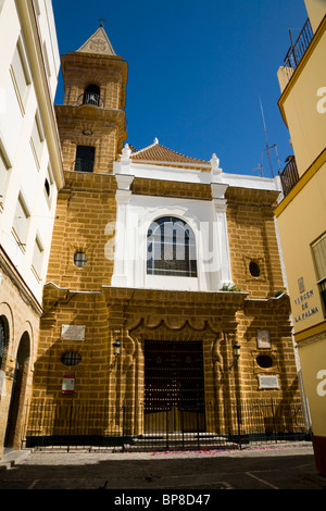 Church of Parroquia de Nuestra Señora de la Palma, Cádiz. (Palma Parish Church, in Cadiz.) Spain. - Stock Photo