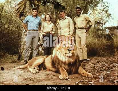 YALE SUMMERS, CHERYL MILLER, MARSHALL THOMPSON, HARI RHODES, CLARENCE, DAKTARI, 1966 - Stock Photo