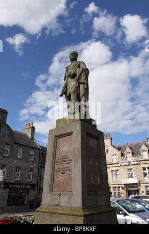 Charles Gordon Lennox fifth duke of Richmond statue Huntly Scotland  August 2010 - Stock Photo