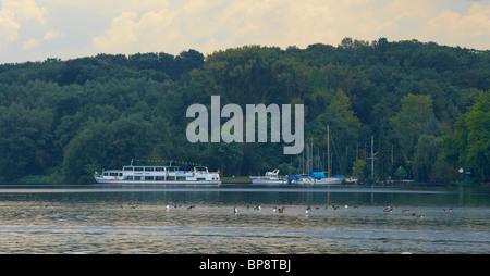 Outdoor photo, Baldeneysee, Essen, Ruhrgebiet, North Rhine-Westphalia, Germany, Europe - Stock Photo