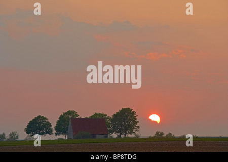 Evening at the Wewelsburg, Bueren-Wewelsburg, North Rhine-Westphalia, Germany, Europe - Stock Photo