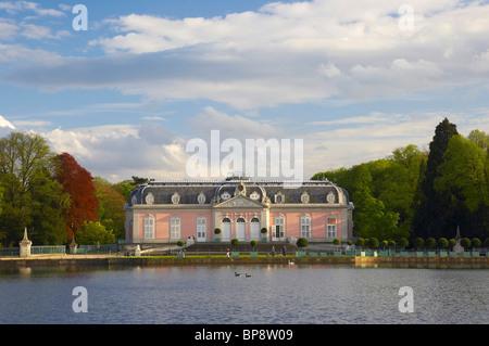 spring, Schloss Benrath (castle) in Duesseldorf-Benrath, Rhineland, North Rhine-Westphalia, Germany, Europe - Stock Photo