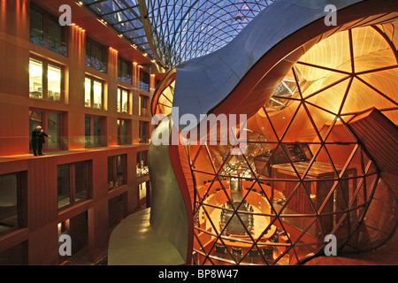 germany berlin pariser platz dg bank head office large atrium stock photo royalty free. Black Bedroom Furniture Sets. Home Design Ideas
