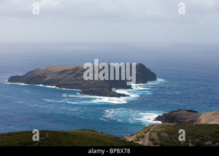Ilheu de Ferro Island, Porto Santo, near Madeira, Portugal - Stock Photo