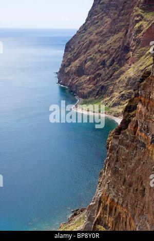 Coastline near Estreito de Camara de Lobos, Madeira, Portugal - Stock Photo