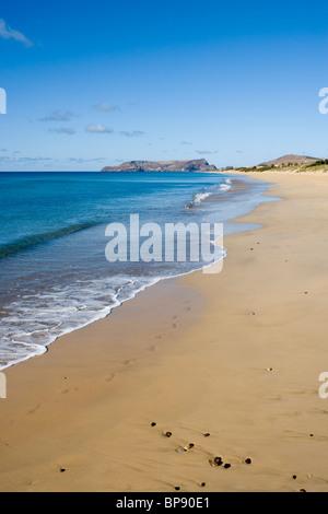 Porto Santo Beach, Porto Santo, near Madeira, Portugal - Stock Photo