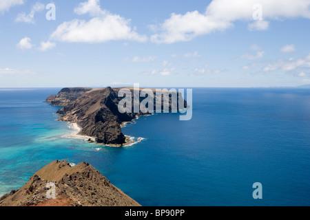 Ilheu de Baixo ou da Cal Island, Porto Santo, near Madeira, Portugal - Stock Photo