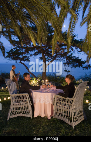 Moonlight Dinner in the garden of Reid's Palace Hotel, Funchal, Madeira, Portugal