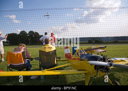 Model aircrafts, airshow, Lehrte, Lower Saxony, Germany - Stock Photo