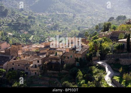 Quaint Village, Fornalutx, Mallorca, Balearic Islands, Spain, Europe - Stock Photo