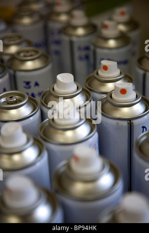 Generic Spray Cans - Stock Photo